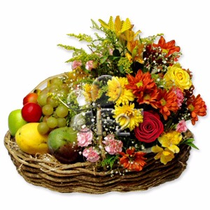 Flower and fruit baskets